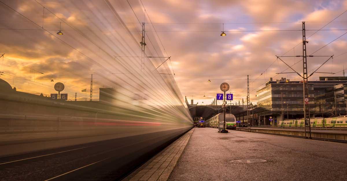 Bahnhof im Interrail Podcast Welttournee