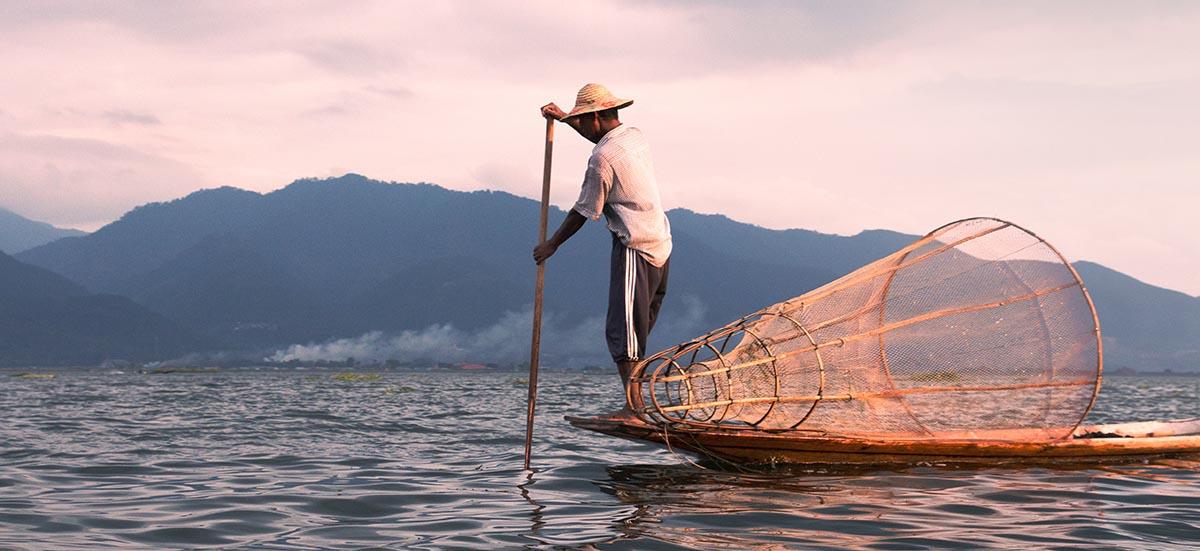 Fischer am Inle See im Myanmar Podcast