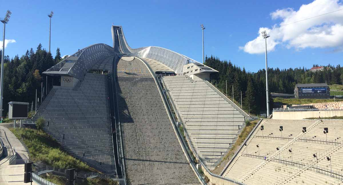 Norwegen Podcast Holmenkollen Skisprungschanze