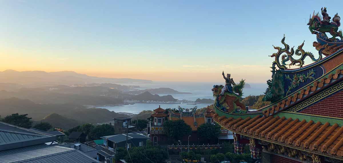 Taiwan Podcast - Aussicht aus Juifen. Welttournee der Reisepodcast