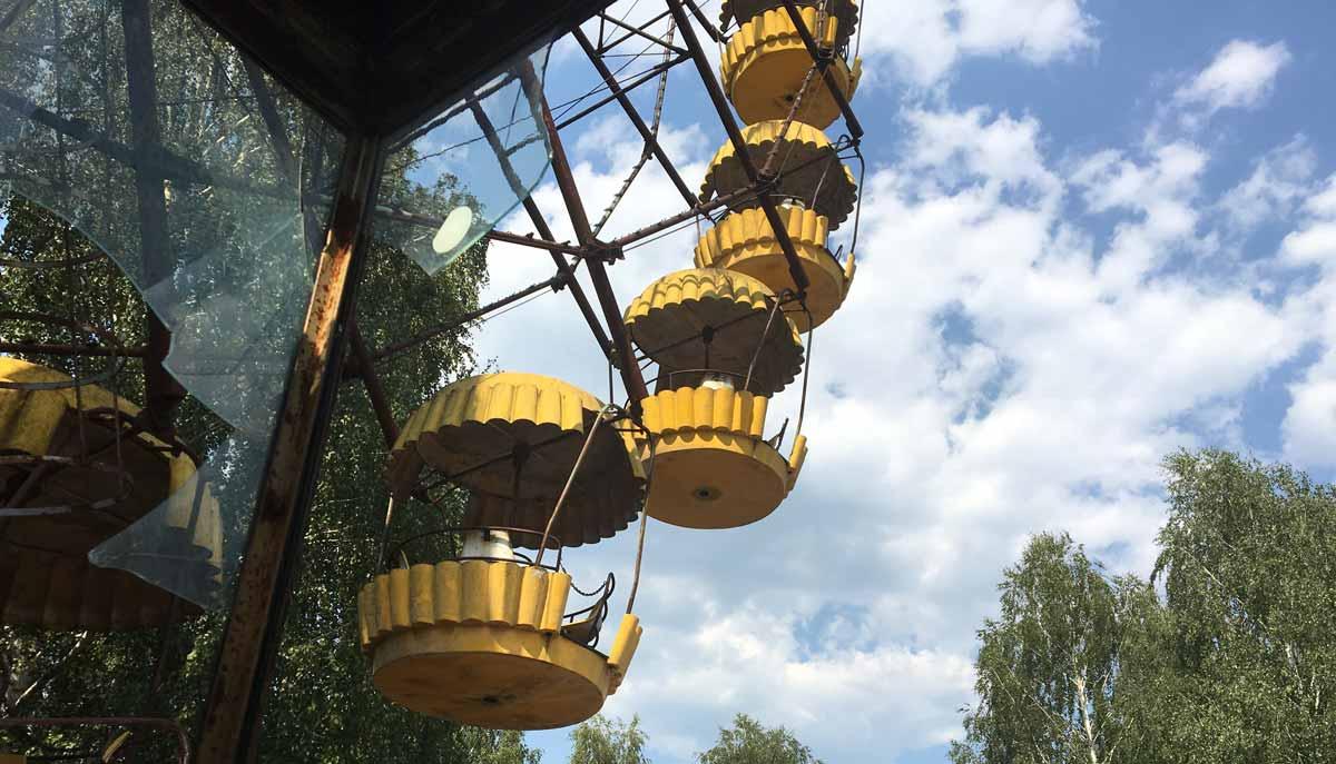 Das verlassene Riesenrad in Tschernobyl im Ukraine Podcast