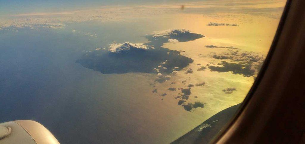 Reisen durch Nicaragua: Vulkane im Anflug auf Nicargua - mehr Tipps zur Nicaragua Reise gibts bei Welttournee