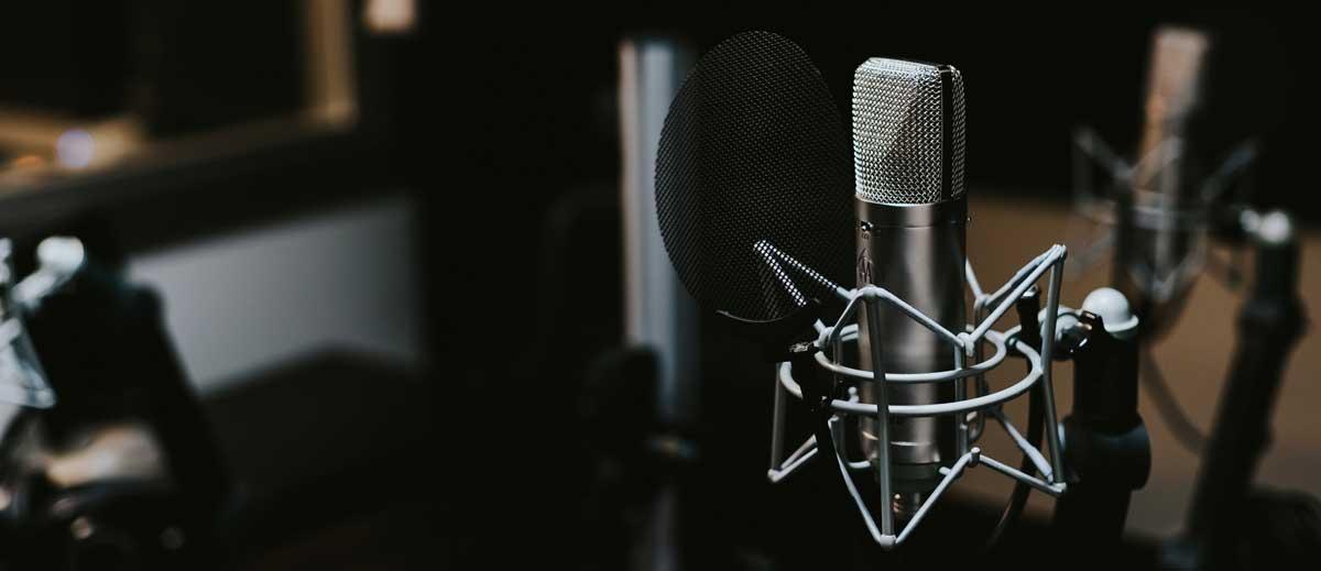 Der best Podcast 2019 - Mikrofon im Studio