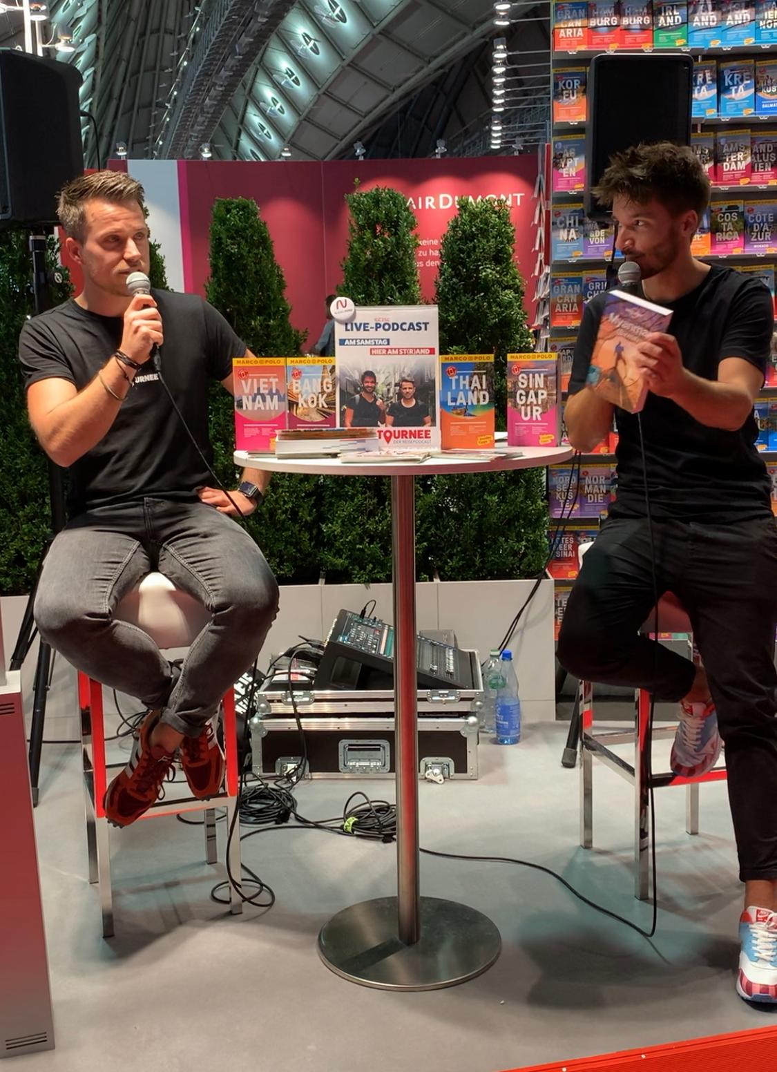 Der Reisepodcast auf der Buchmesse in Frankfurt