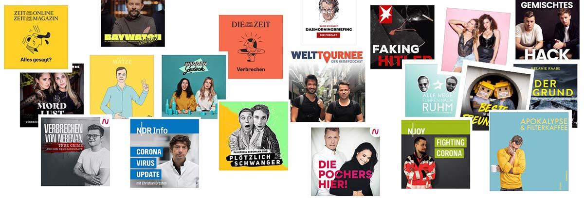 Aus den Podcast Charts - die besten Podcasts 2020