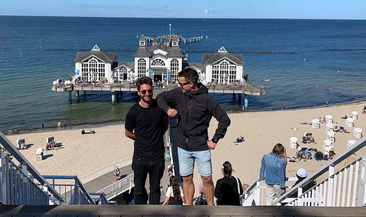 Adrian und Christoph in Seliin im Rügen Podcast